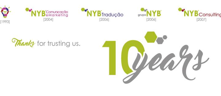 Grupo NYB celebra 10 anos